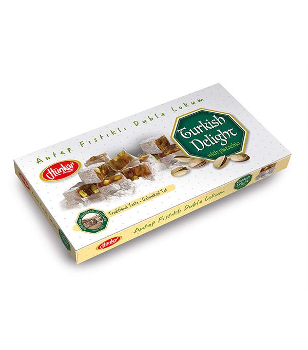 Antep Fıstıklı Pudra Şekerli Lokum 300 Gr